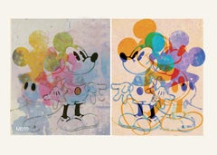 M17-Figurative, Street art, Pop art, Modern, Contemporary, Abstract Mickey Mouse
