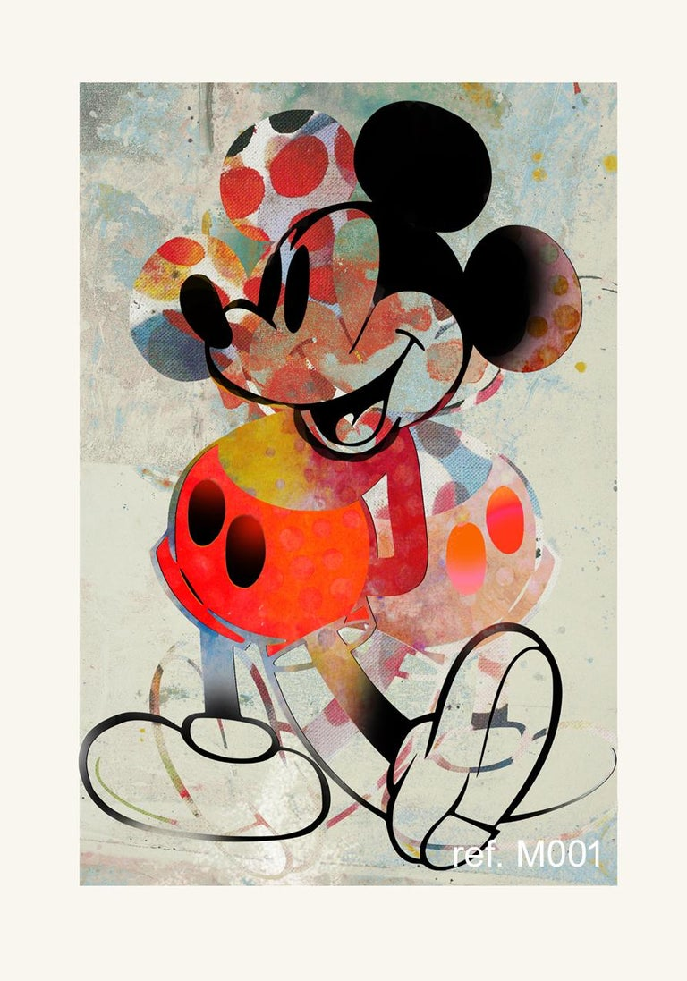 Francisco Nicolás Figurative Print - M002-Figurative, Street art, Modern, Pop art, Contemporary, Abstract Mickey Mous