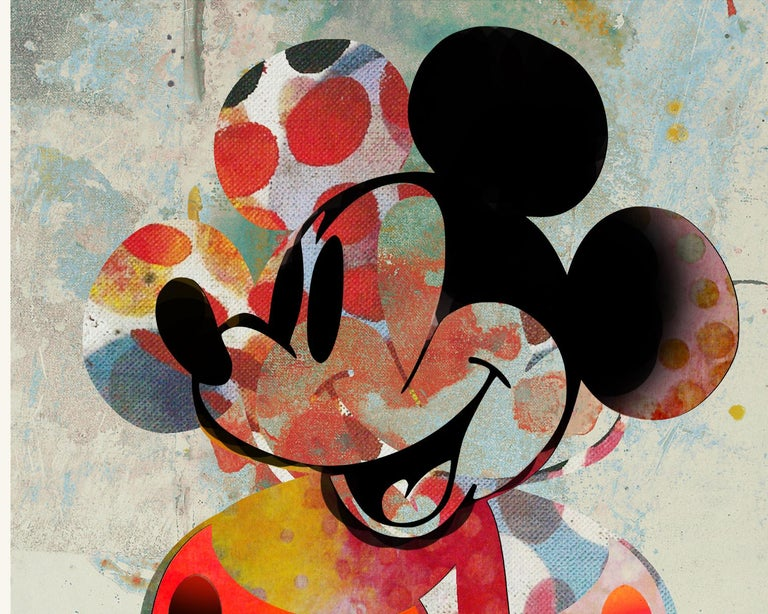 M002-Figurative, Street art, Modern, Pop art, Contemporary, Abstract Mickey Mous - Pop Art Print by Francisco Nicolás