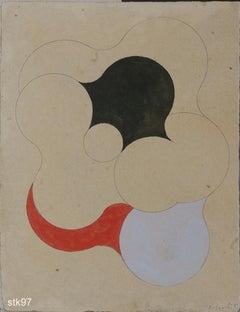 Stk097-Contemporary, Abstract, Minimalism, Modern, Pop art, Geometric, Acrylic