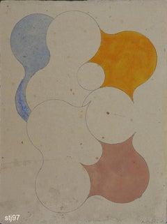 Stbj097-Contemporary, Abstract, Minimalism, Modern, Pop art, Geometric, Acrylic