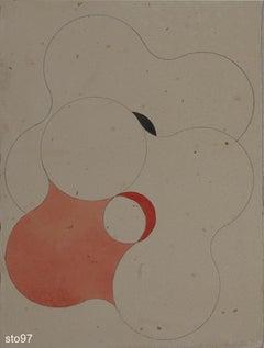Stbo097-Contemporary, Abstract, Minimalism, Modern, Pop art, Geometric, Acrylic