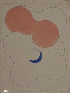 Stbt097-Contemporary, Abstract, Minimalism, Modern, Pop art, Geometric, Acrylic