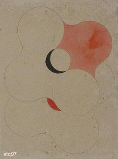 Stq097-Contemporary, Abstract, Minimalism, Modern, Pop art, Geometric, Acrylic
