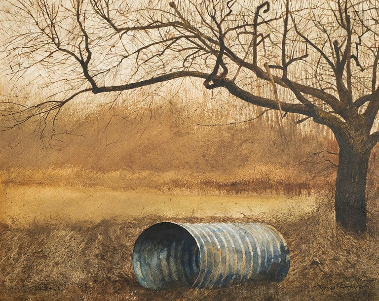 Jamie Wyeth Landscape Art - Pipe and Tree