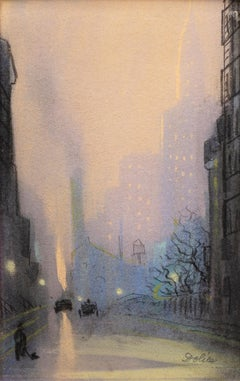 View of the Chrysler Building, New York, at Dusk