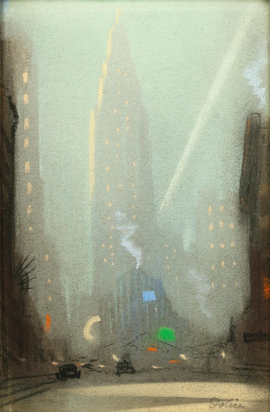 View of the Chrysler Building, New York, at Night