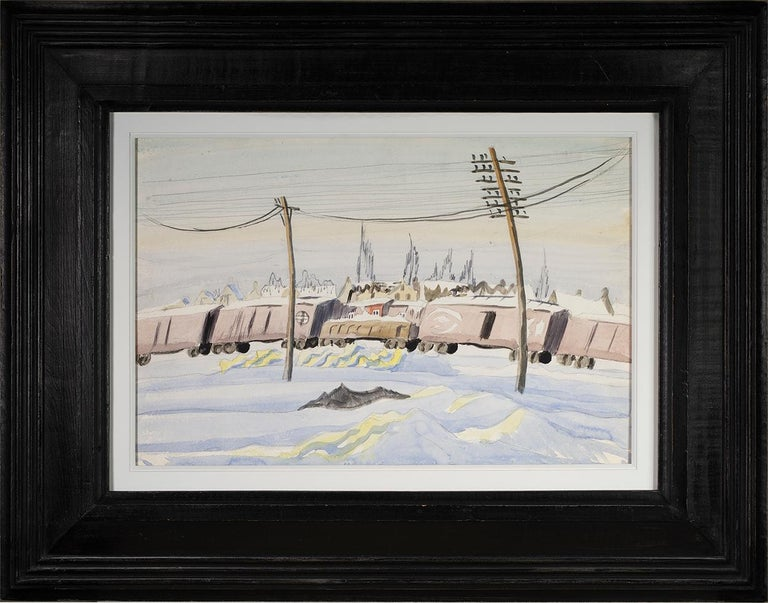 (Untitled) The Freight Train - Art by Charles E. Burchfield