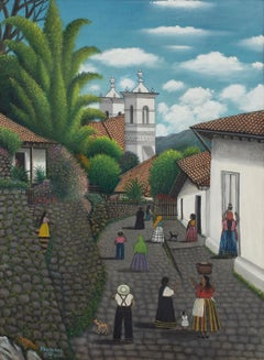 Untitled (Una Calle de San Antonio de Oriente, 1966) Self-taught, Outsider Art,