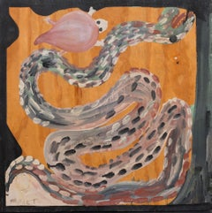 Untitled (Snake and Turtle) Self-taught, Outsider Art