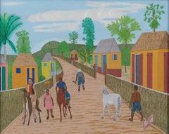 Sur la route de Carrefour des Peres, Haitian Art, Haiti