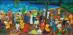 Haitian Market by Sea, Haitian Art, Haiti