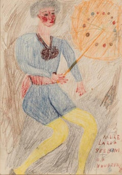 Lalla Selbini of Vaudeville (circa 1917-1922) Self-taught, Outsider Art