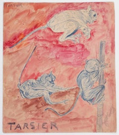 Tarsier (ca. 1917-1922) Self-taught, Outsider Art
