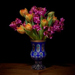 Azaleas and Tulips in a European Vessel