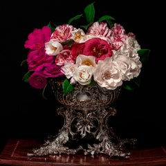 Camelias in a Silver Punch Bowl