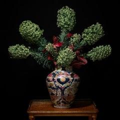 Euphorbia in a Japanese Imari Vessel