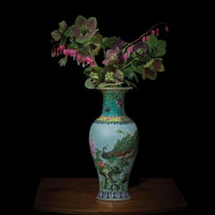 Hellebores and Bleeding Hearts in a Chinese Vessel