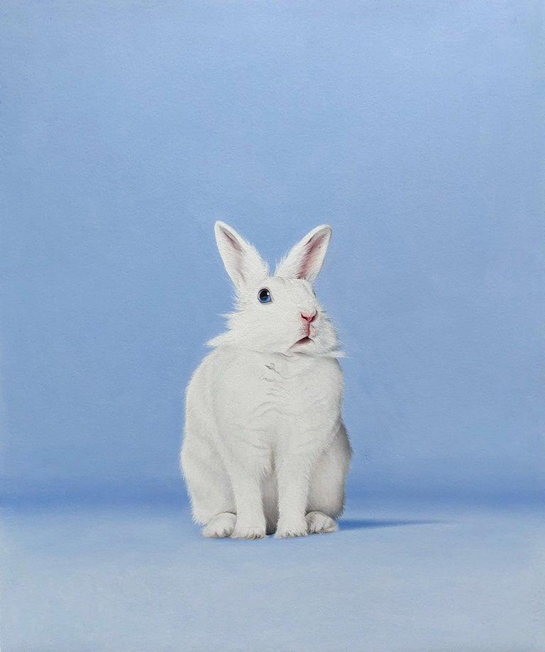 White Rabbit I - Painting by Paul Urzica