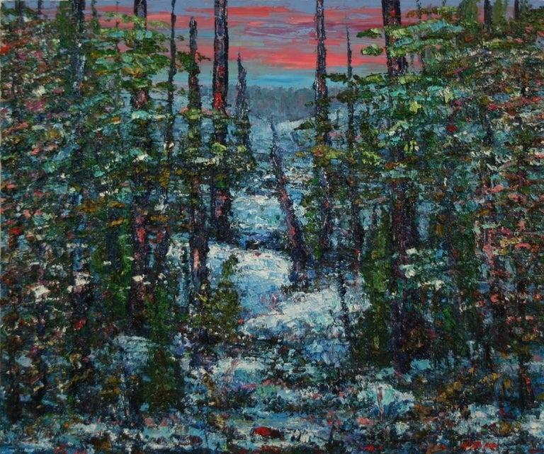 John Barkley Abstract Painting - Winter's Journey
