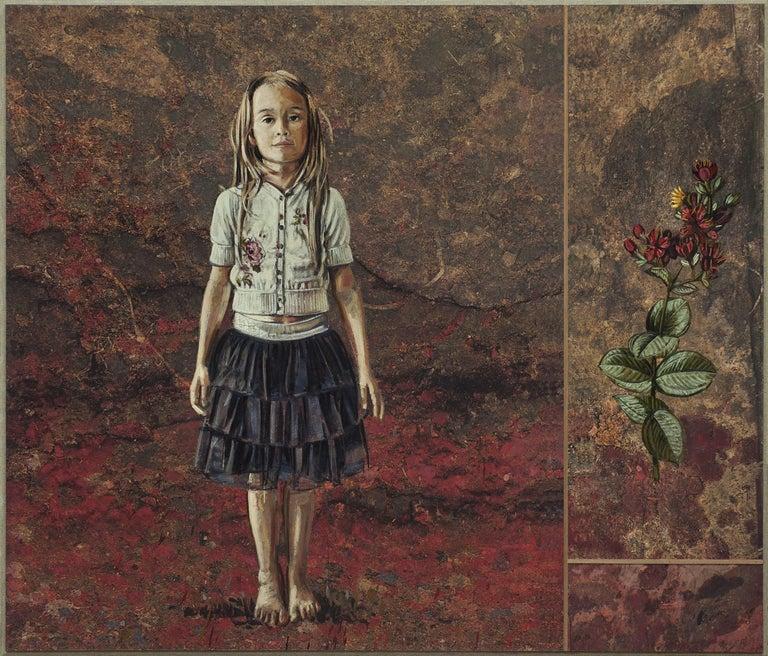 Jacques Payette Portrait Painting - Voici des fleurs...