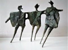 Running Children - Contemporary, Figurative, Bronze Sculpture by Neil Wood