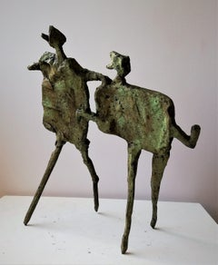 Running Together - Bronze, Contemporary, Figurative Sculpture by Neil Wood