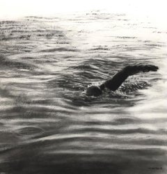 Infinity Pool Study II - Contemporary, Charcoal Drawing by Patsy McArthur