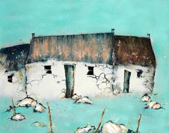 Near Carloway - Contemporary Landscape Painting by Helen Acklam