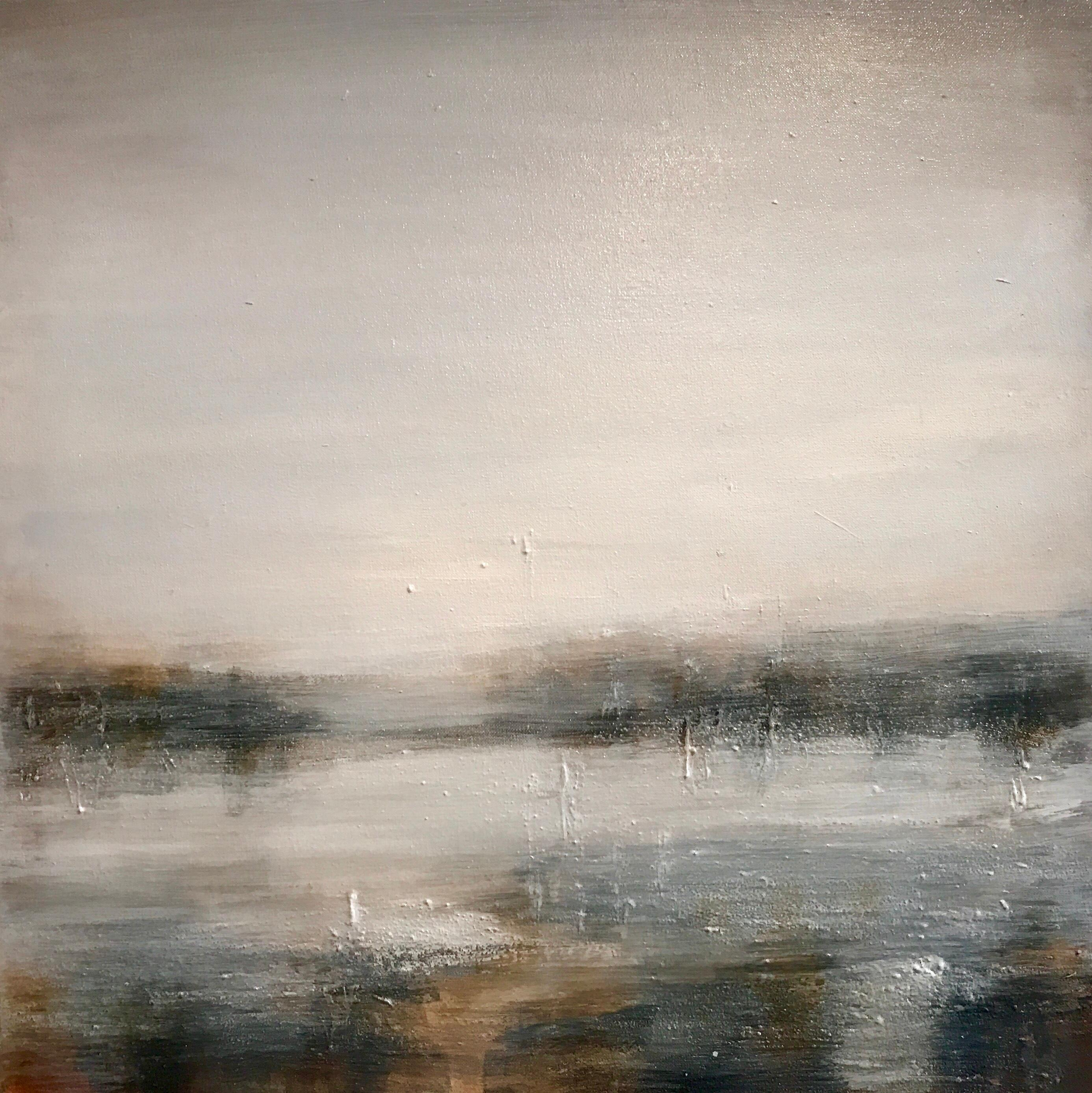Hazy Waters - A Contemporary Landscape Painting by Clodagh Meiklejohn
