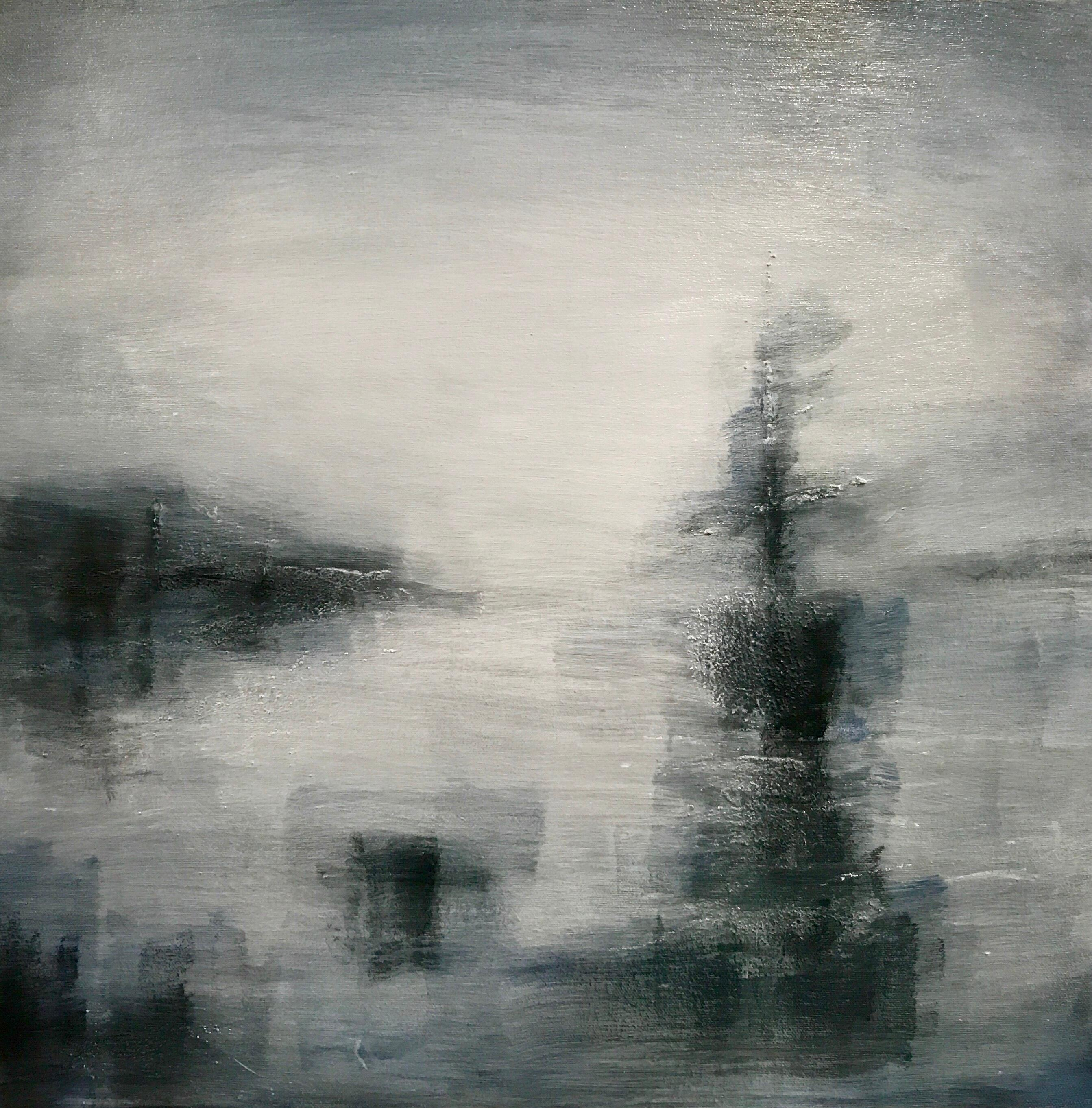 The Boat - A Contemporary Landscape Painting by Clodagh Meiklejohn