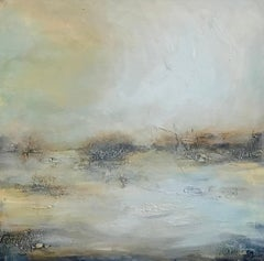 Tranquil Waters - Contemporary Landscape Painting by Clodagh Meiklejohn