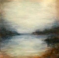 Autumn Pass - Contemporary Landscape Painting by Clodagh Meiklejohn