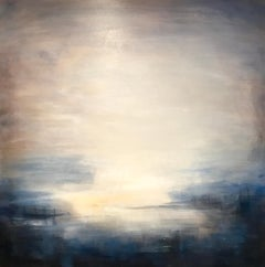 Last Rays - Contemporary Landscape Painting by Clodagh Meiklejohn