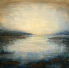 West Coast Dusk - Contemporary Landscape Painting by Clodagh Meiklejohn
