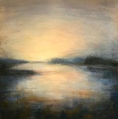 Sundown - Contemporary Landscape Painting by Clodagh Meiklejohn