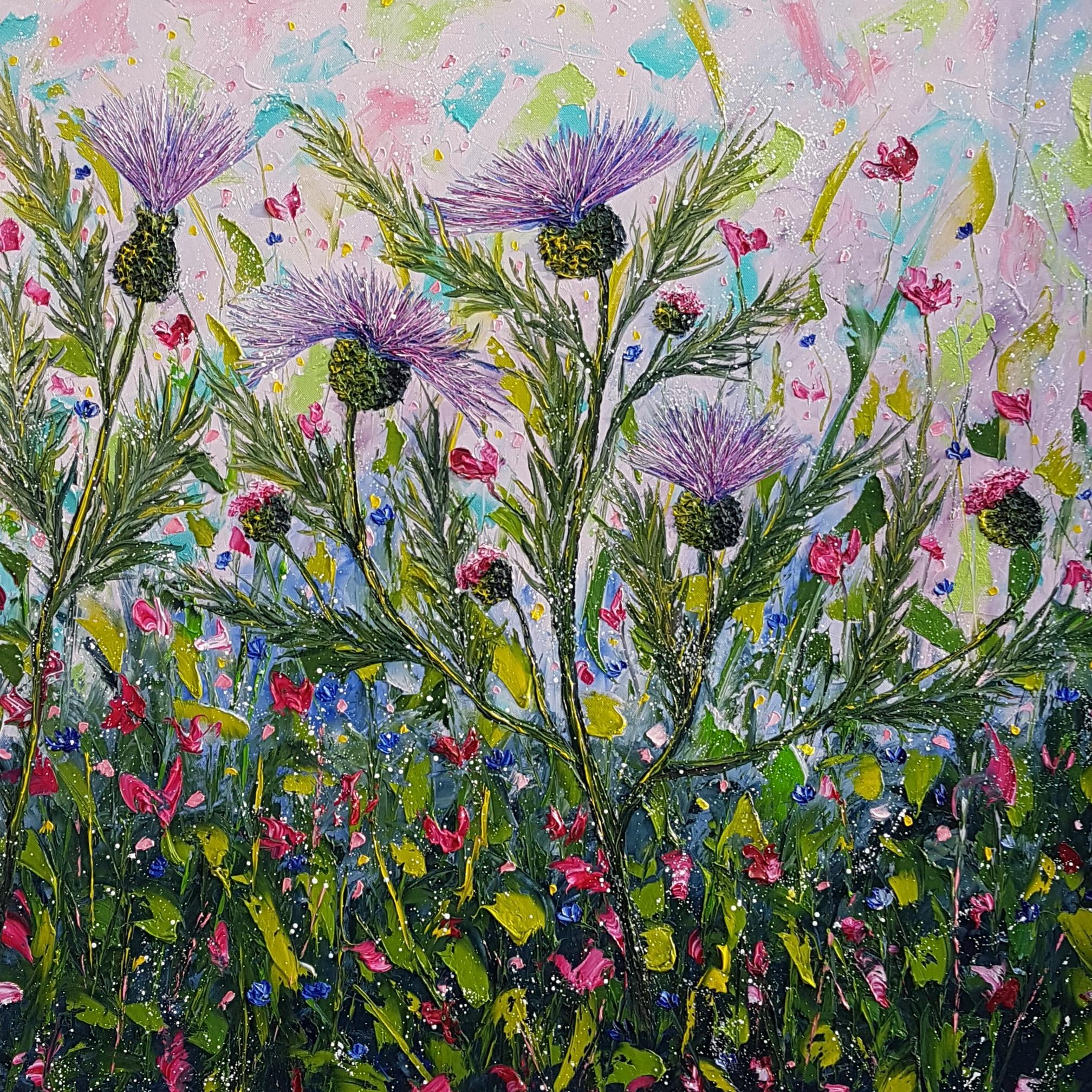 Spring Joy - Contemporary Figurative Painting by Elena Guiullaumin