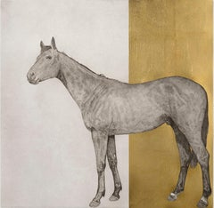 Equine Gold - Contemporary Animal Drawing by Guy Allen