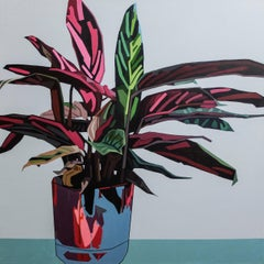 Big Green Leaf - Contemporary Still Life Painting by Donald Maclean