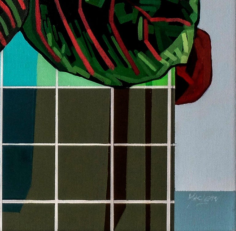 Maranta Tricolour - Contemporary Still Life Painting by Donald Maclean For Sale 1