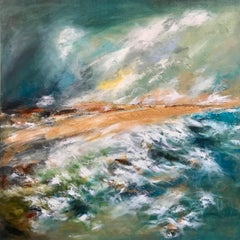 The Sands of Morar - Contemporary Seascape Painting by Mark McCallum
