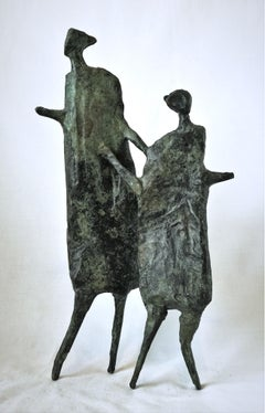 Mother and Child - Bronze, Contemporary, Figurative Sculpture by Neil Wood