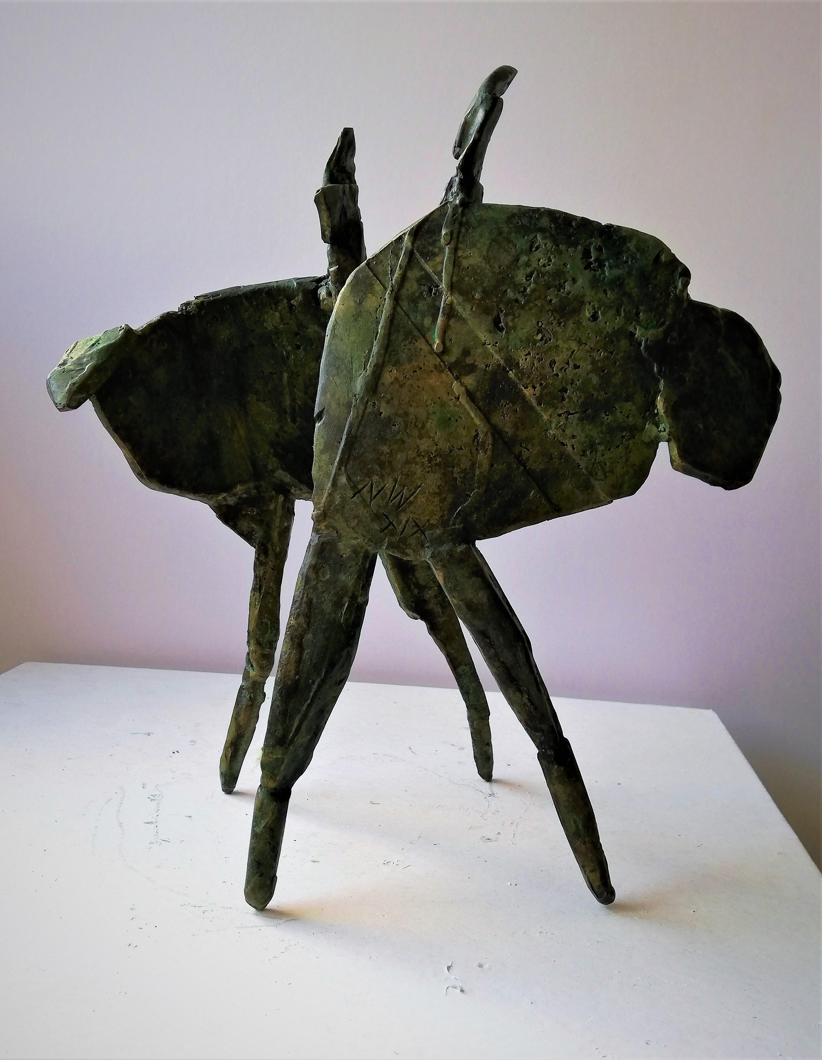 We Danced - Bronze, Contemporary, Figurative Sculpture by Neil Wood