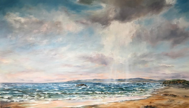 Senja Brendon Landscape Painting - Summer Light, Machrihanish