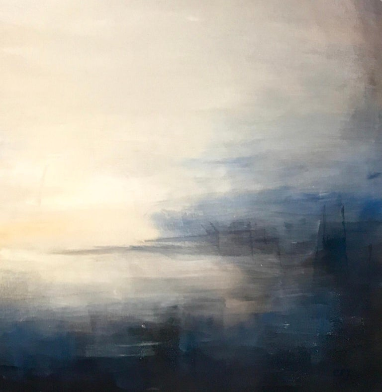 Last Rays - Contemporary Landscape Painting by Clodagh Meiklejohn For Sale 1
