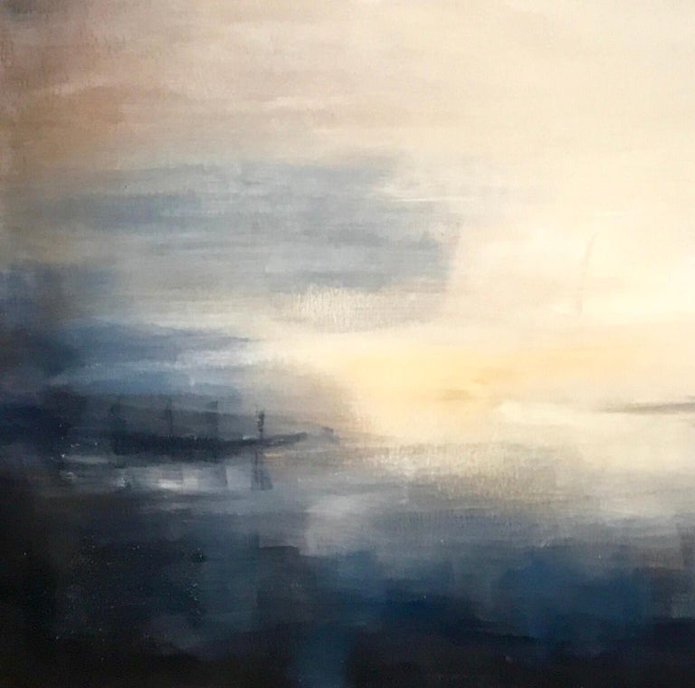 Last Rays - Contemporary Landscape Painting by Clodagh Meiklejohn For Sale 2