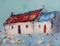Europaidh III - Contemporary Landscape Painting by Helen Acklam