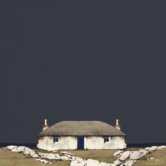 South Uist Croft House - Signed, Limited Edition Print, Landscape by Ron Lawson