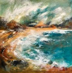 Scarista Bay Harris - Contemporary Seascape Painting by Mark McCallum