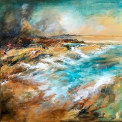 Port Na Murrach Arisaig - Contemporary Seascape Painting by Mark McCallum